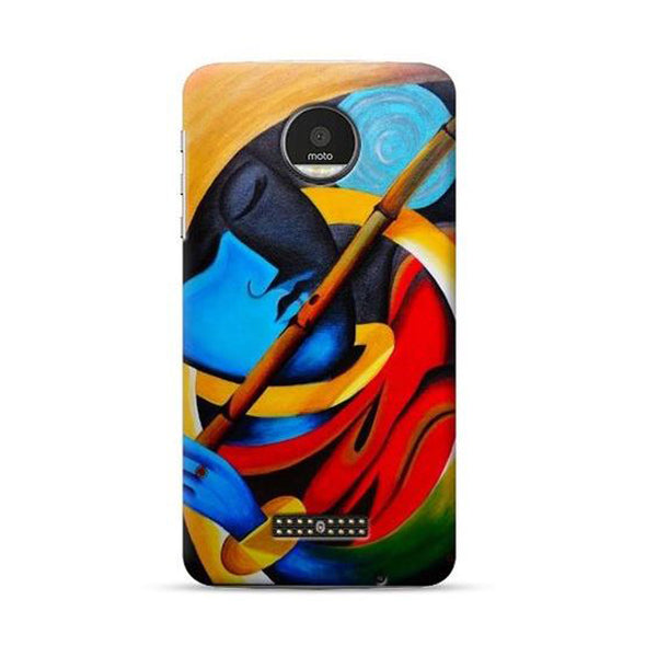 Hamee Official - Bansuri - Lafula Designer Printed Hard Back Case for Moto E4