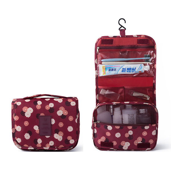 Hanging Travel Organizer - Red Floral-Hamee India