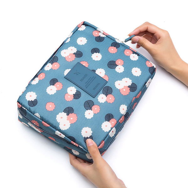 Travel Organizer - Blue Floral-Hamee India
