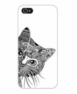 "Hamee Back Cover for Oppo F1 "" Cat Sneaking "" - Hamee India"
