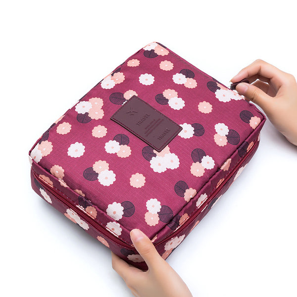 Travel Organizer - Red Floral-Hamee India