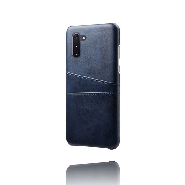 PU Leather Card Pocket Back Cover for Samsung Galaxy Note 10 (Blue)