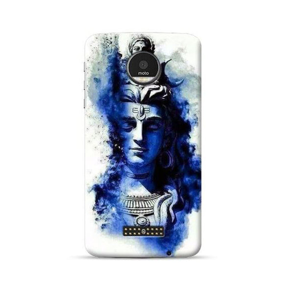 Hamee Official - Blue Shiva - Lafula Designer Printed Hard Back Case for Moto E4