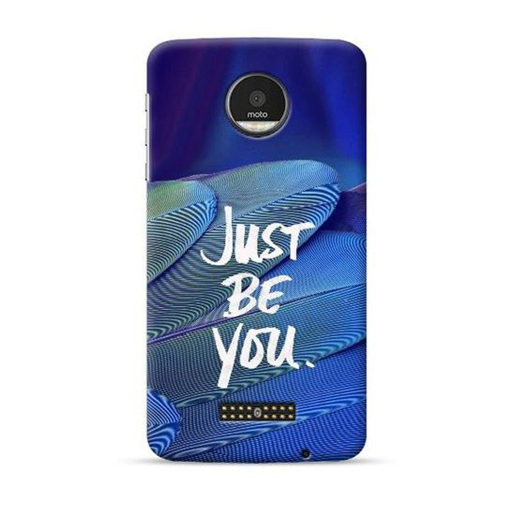 low priced d3cff fcec8 Hamee Official Printed -Just BE You- for Moto Z Play