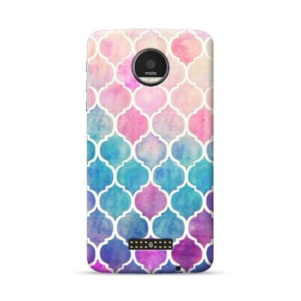 Hamee Official - Blocks - Lafula Designer Printed Hard Back Case for Moto E4