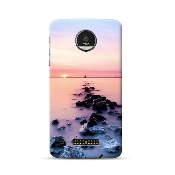 Hamee Official - Beach - Lafula Designer Printed Hard Back Case for Moto E4