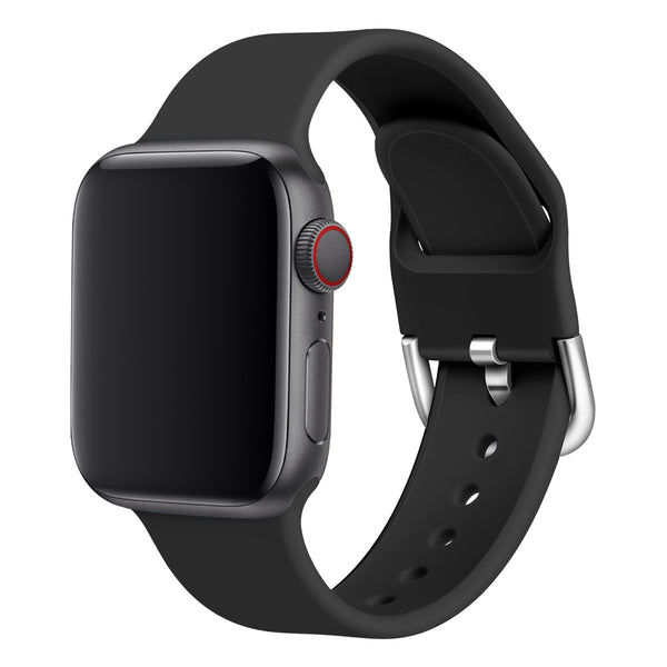 Black Silicone Buckle Band Strap - Apple Watch Series 5/4/3 (40mm/38mm)
