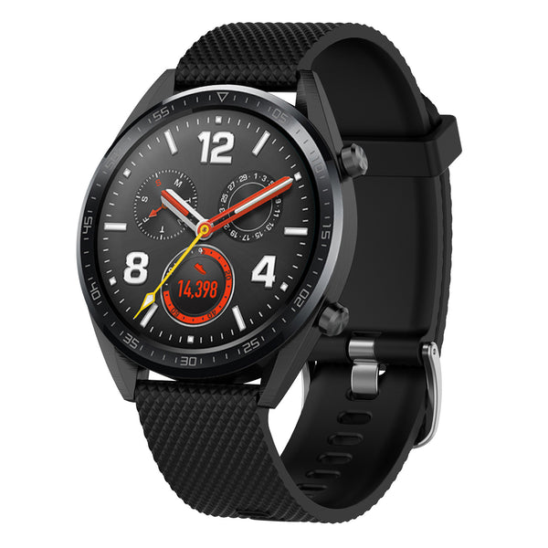 Black Silicon Strap - Huawei GT 2 (2019)(46mm)