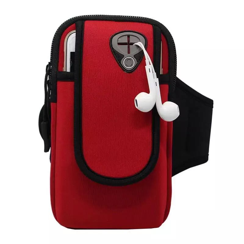 Sporty Armband Smartphone Holder - Red