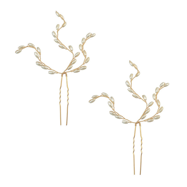 Pearl Drops Hair Pin Accessory (Set of 2)