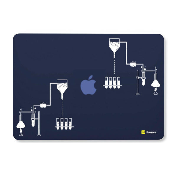 "Chemistry Navy Blue MacBook Air 13"" Cover-Hamee India"