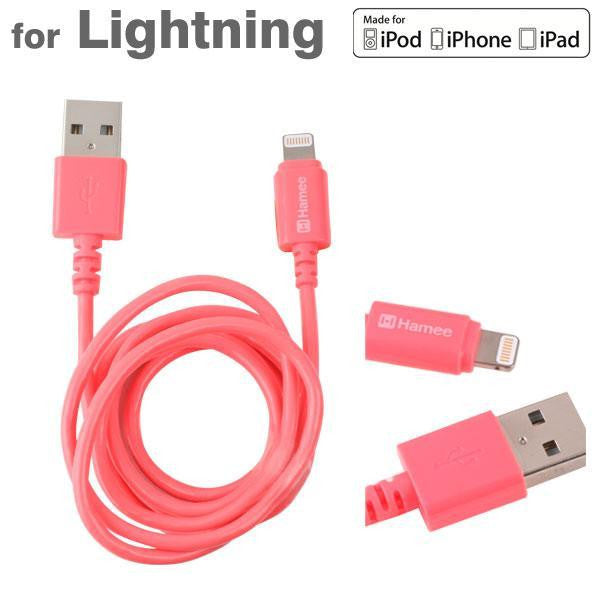 Lightning Cable 1m for iPhone, iPod and iPad (Pink)-Hamee India
