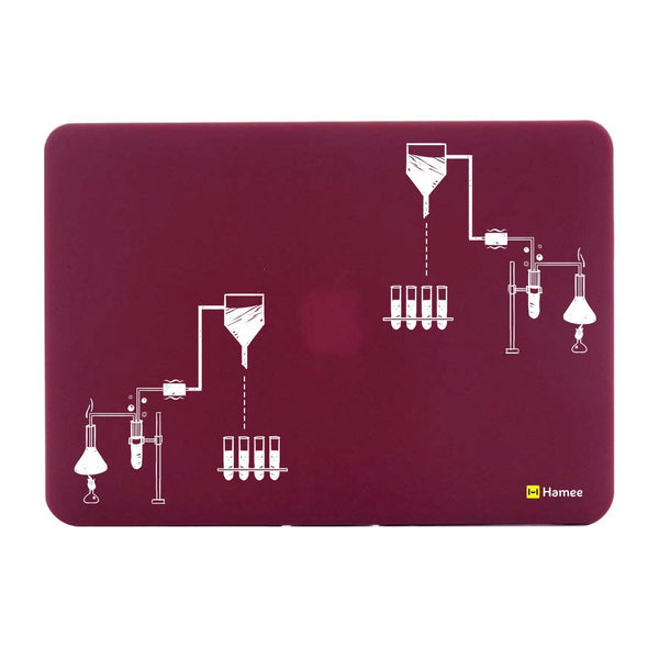 "Chemistry Wine Red MacBook Air 13"" Cover-Hamee India"