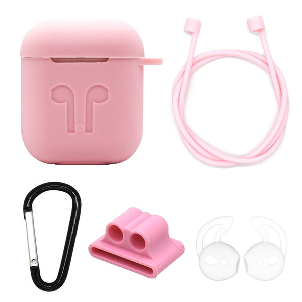 Silicon Airpods Case Set - Pink-Hamee India