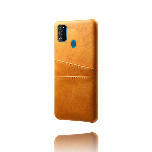 Leather Card Pocket Back Cover for Samsung Galaxy M30s (Tan Brown)