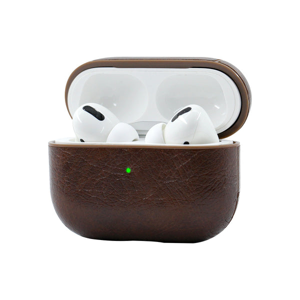 Leather Airpods Pro Case - Dark Brown