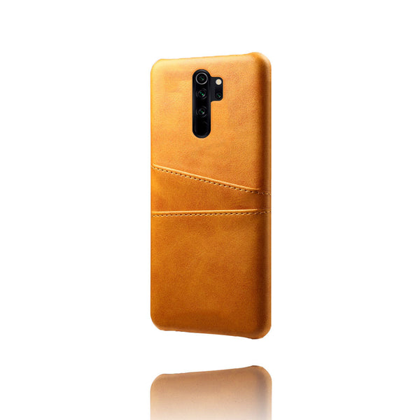 Leather Card Pocket Back Cover for Redmi Note 8 Pro (Tan Brown)
