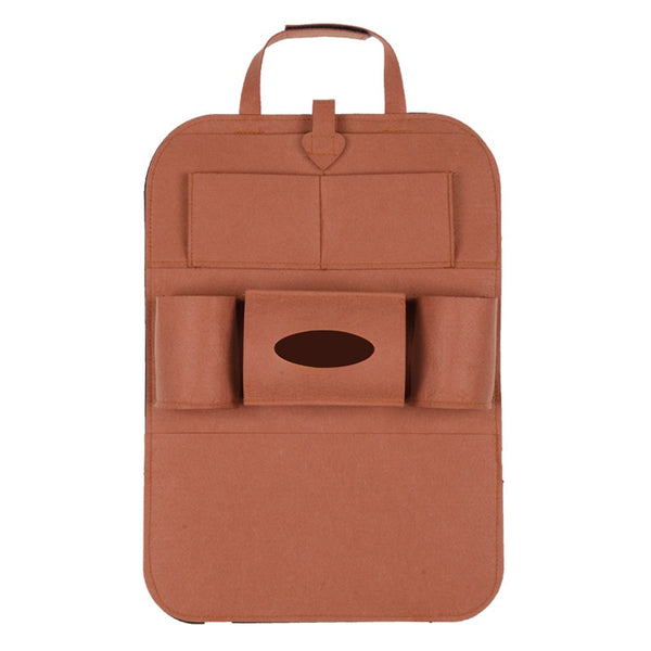 Multi-Pocket Seat Back Organizer (Brown)