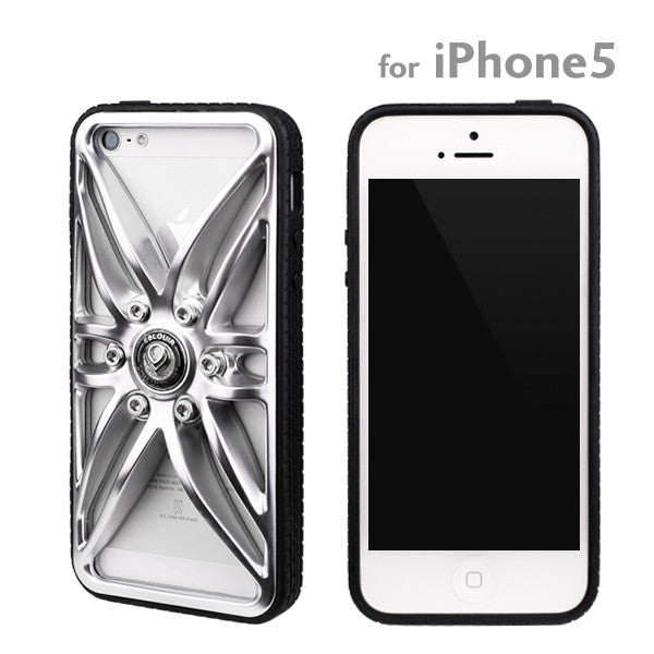 [JP] Dress Up Wheel iPhone 5/iPhone 5s Case (Silver)
