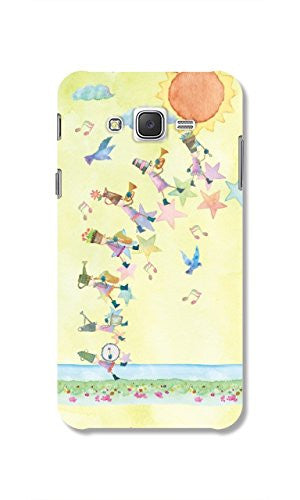 Hamee Marching Band / Pastel Multicolour Designer Cover For Samsung Galaxy J7 - Hamee India