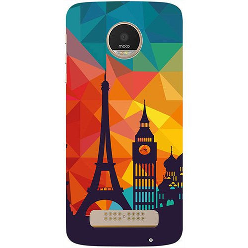 Hamee Colored Paris Design 3D Printed Hard Back Case Cover for Motorola Moto G5