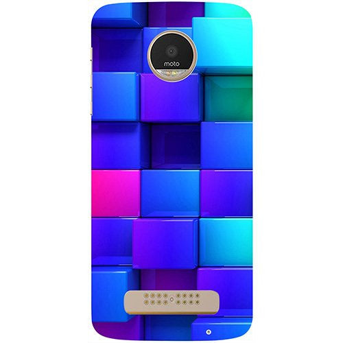 Hamee Blocks Rainbow 3D Graphics Design 3D Printed Hard Back Case Cover for Motorola Moto G5