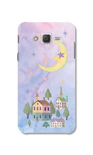 Hamee Moon / Pastel Multicolour Designer Cover For Samsung Galaxy J7-Hamee India