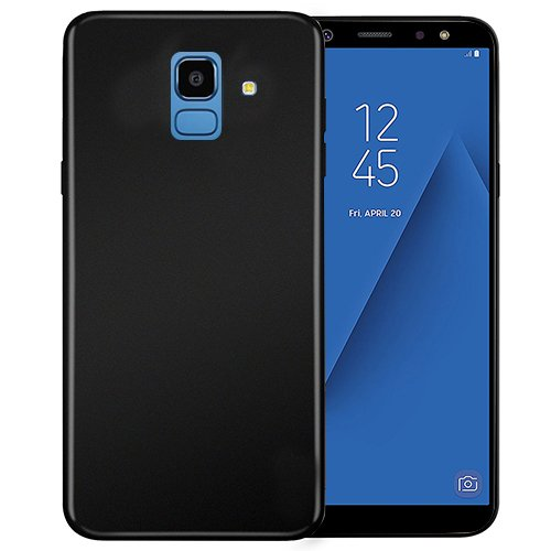 BLACK SOFT TPU CASE FOR SAMSUNG GALAXY J6 (2018)-Hamee India