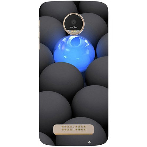 Hamee Balls Dark Neon Sight Surface Design 3D Printed Hard Back Case Cover for Motorola Moto G5