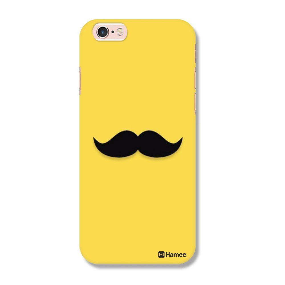 Hamee Moustache / Yellow Designer Cover For iPhone 5 / 5S / Se - Hamee India