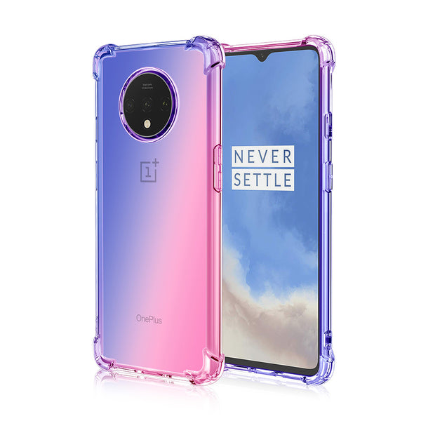 Gradient TPU Case for OnePlus 7T - Pink & Navy Blue