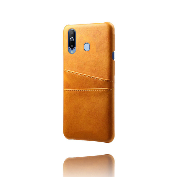 PU Leather Card Pocket Back Cover for Samsung Galaxy M40 (Tan)