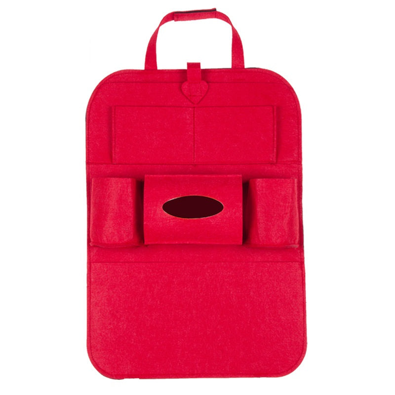 Multi-Pocket Seat Back Organizer (Red)