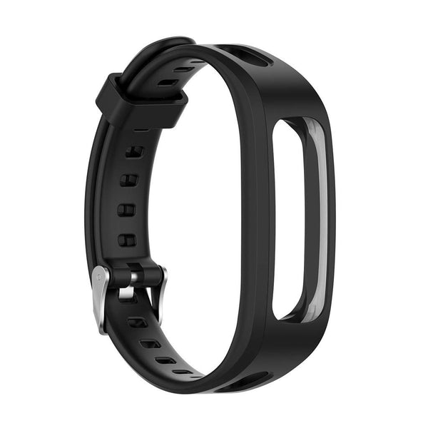 Honor Band 4 (Running Version) TPU Wrist Strap - Black