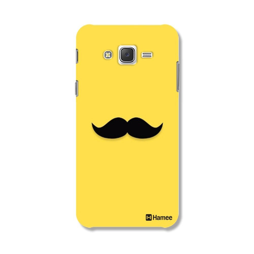 Hamee Moustache / Yellow Designer Cover For Samsung Galaxy J7-Hamee India