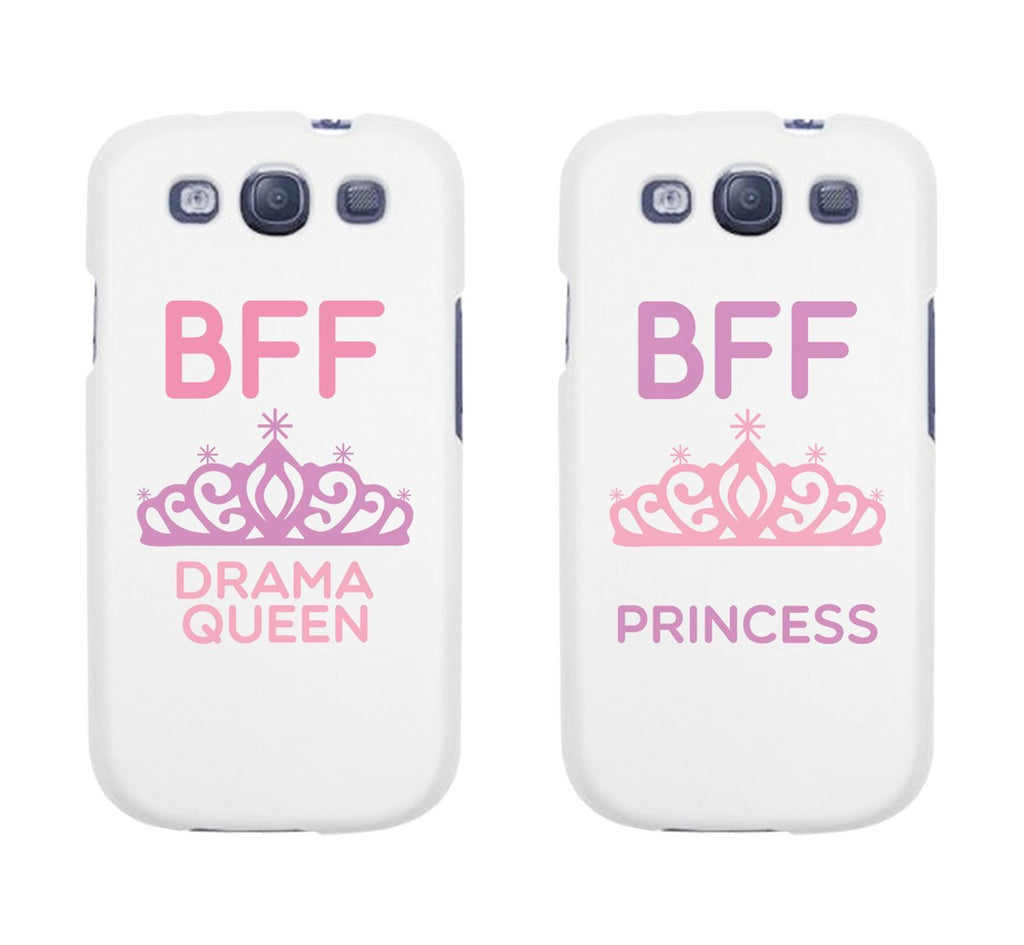 "Hamee Back Cover for iPhone 5 / 5S / SE / 5SE "" BFF Drama Queen and Princess Special Pack of Two Combo 12 "" - Hamee India"