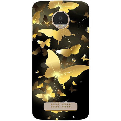 Hamee Golden Butterfly Pattern Design 3D Printed Hard Back Case Cover for Motorola Moto G5