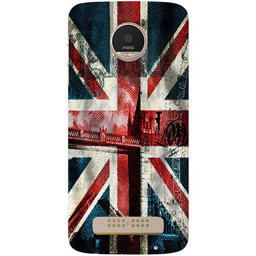 Hamee London Flag wallpaper Design 3D Printed Hard Back Case Cover for Motorola Moto G5