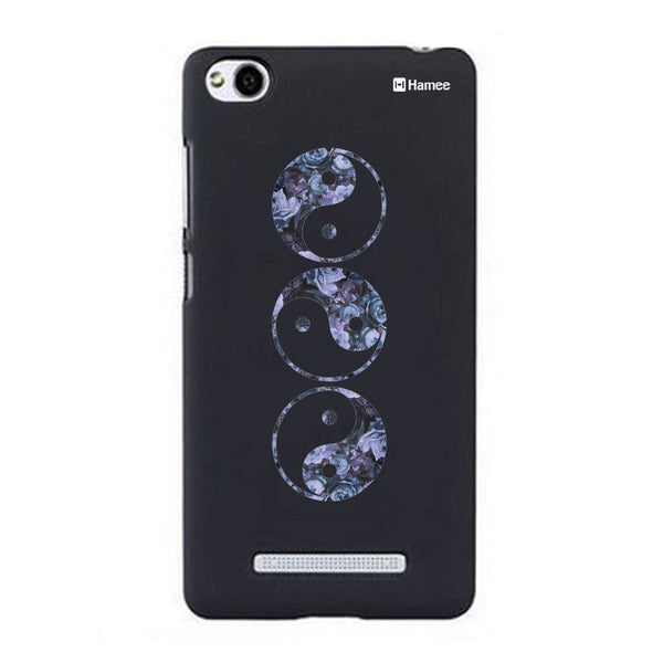 Hamee Blue Yin Yang Designer Cover For Xiaomi Redmi 3-Hamee India