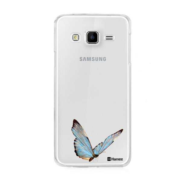 Hamee Blue Butterfly Designer Cover For Samsung Galaxy On5 - Hamee India