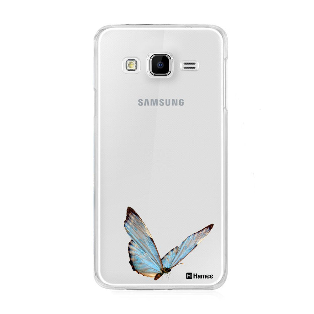 Hamee Blue Butterfly Designer Cover For Samsung Galaxy J3 - Hamee India