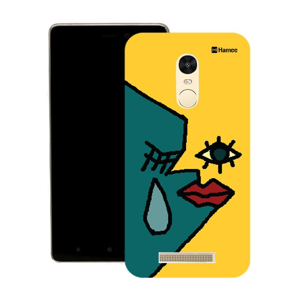 Hamee Blue Yellow Tear Face Designer Cover For Motorola Moto G3 - Hamee India