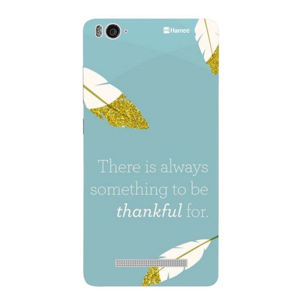 Hamee Thankful / Blue Designer Cover For Xiaomi Redmi 3-Hamee India