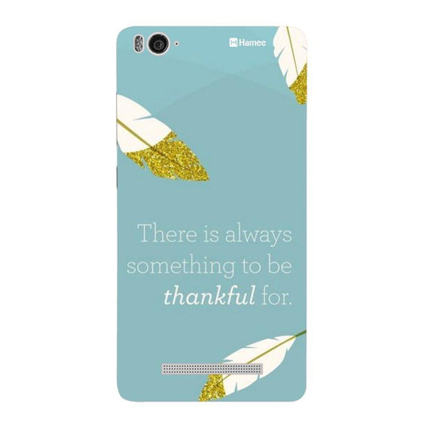 Thankful / Blue Redmi 3 / 3s Back Cover-Hamee India