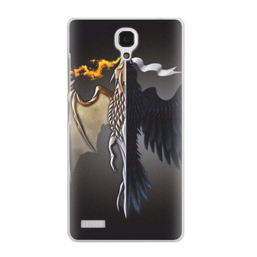 Hamee Flying Beast / Black Designer Cover For Xiaomi Redmi Note-Hamee India
