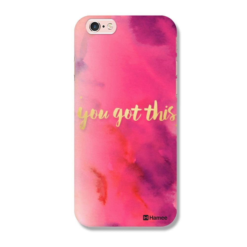 Hamee You Got This / Pink Designer Cover For Apple iPhone 6 / 6S - Hamee India
