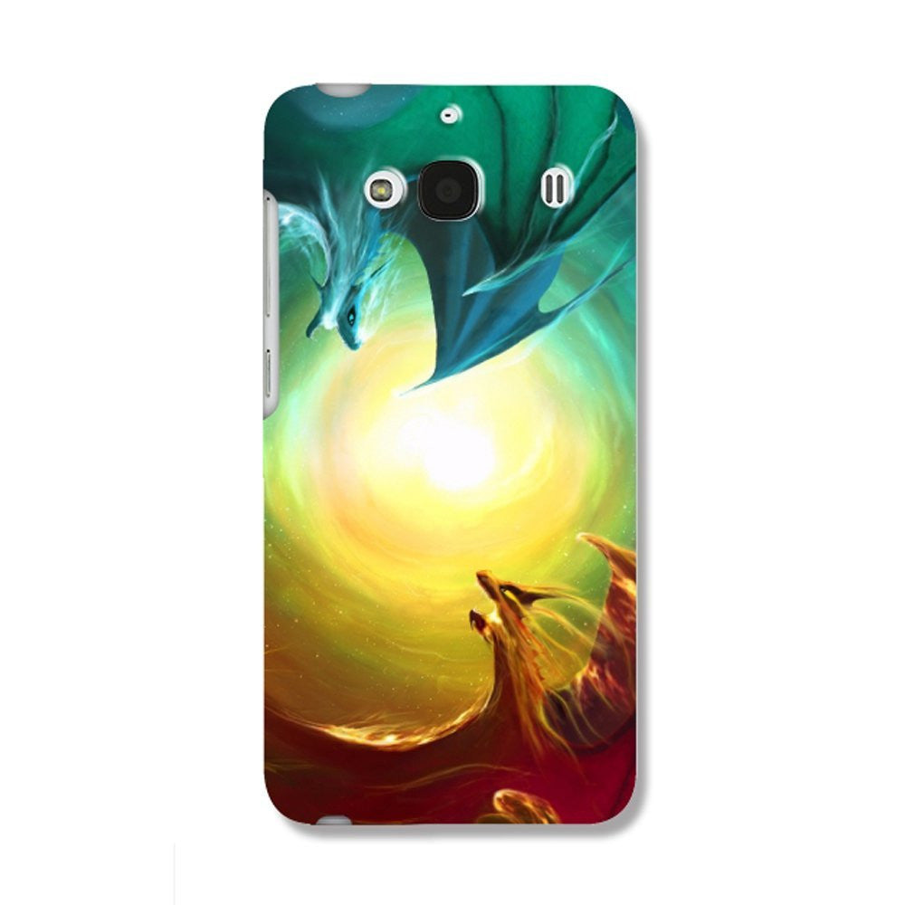 Hamee Two Dragons / Multicolour Designer Cover For Xiaomi Redmi 2 / 2 Prime-Hamee India