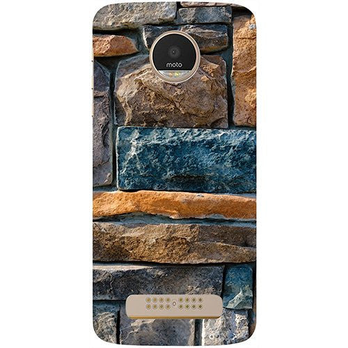 Hamee Decorative Stone Cladding Design 3D Printed Hard Back Case Cover for Motorola Moto G5