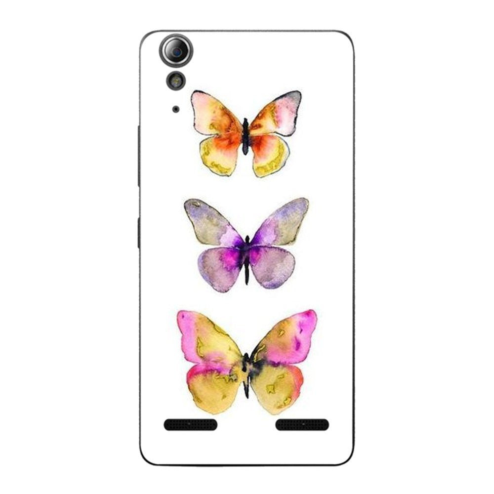 Hamee Butterflies / Multicolour Designer Cover For Lenovo A6000 / A 6000 Plus - Hamee India