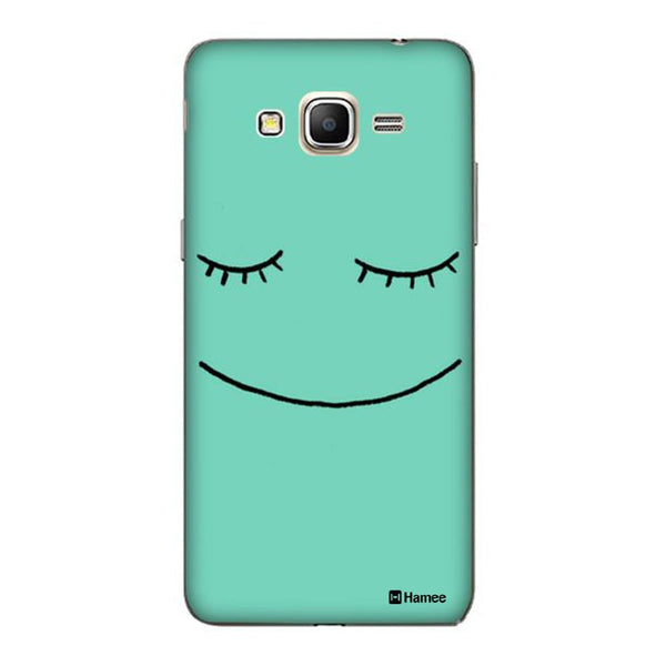 Hamee Cute Face Green Designer Cover For Samsung Galaxy J3 - Hamee India